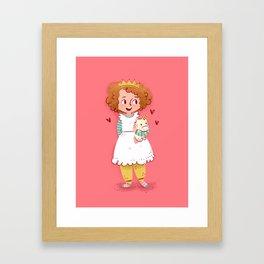 Little Miss Pajama Pants Unicorn Princess Framed Art Print