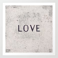 Love Stone Photography - Love Carved in Stone - Zen Meditation Art Art Print