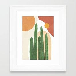 Abstract Cactus I Framed Art Print