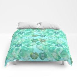 Abstract vegan pattern Comforters