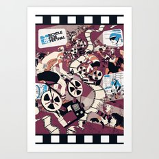 Bicycle Film Festival Art Print