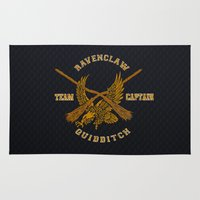 ravenclaw Area & Throw Rugs featuring Ravenclaw quidditch team iPhone 4 4s 5 5c, ipod, ipad, pillow case, tshirt and mugs by Three Second