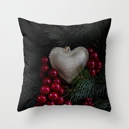 Heart in Christmas. Throw Pillow