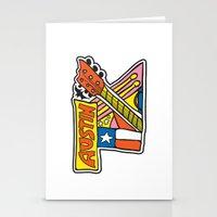 austin Stationery Cards featuring Austin TX by Brandon Ortwein