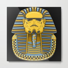 Mummy Tomb Metal Print