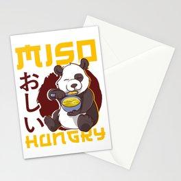 Cute Anime Panda Bear Miso Hungry Pun Kawaii Stationery Cards