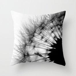 dandelion seed head  silhouette Throw Pillow