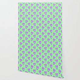 Planchette Pattern on Green Wallpaper