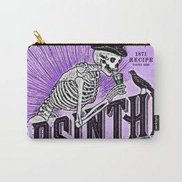 Vintage 1871 Purple Absinthe Liquor Skeleton Elixir Aperitif Cocktail Alcohol Advertisement Poster Carry-All Pouch