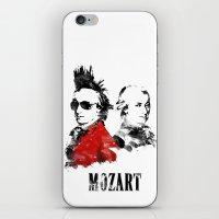 mozart iPhone & iPod Skins featuring Mozart Punk by viva la revolucion