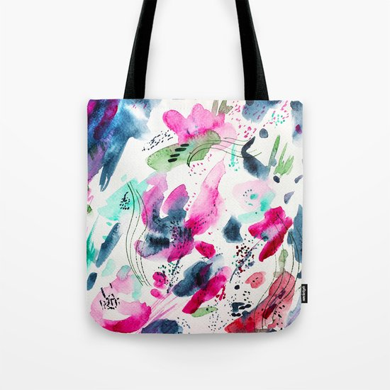 Floral abstraction #2 || watercolor Tote Bag