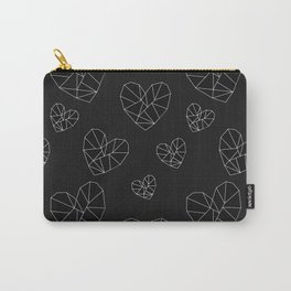 Geometric Hearts Carry-All Pouch