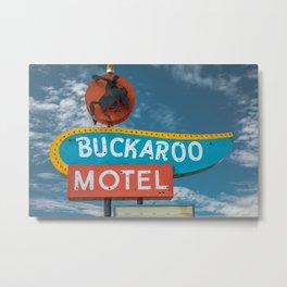 Buckaroo Motel Route 66 Vintage Neon Sign Nostalgia Metal Print