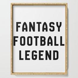 Fantasy Football Legend Serving Tray