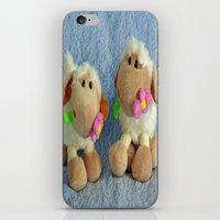 silence of the lambs iPhone & iPod Skins featuring Little Lambs by Frankie Cat
