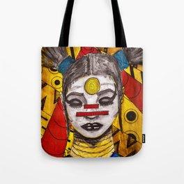Meditating Warrior Tote Bag
