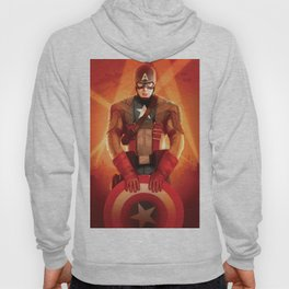 Captain The First  Avenger America by Big Foot Studios Hoody