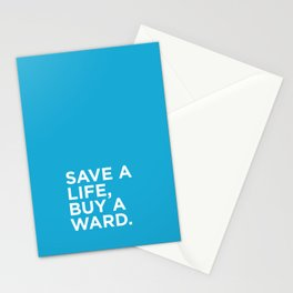 Save a life, buy a ward.  Stationery Cards