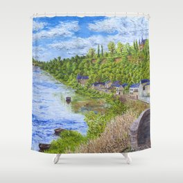 Chinon France Shower Curtain