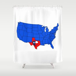 The State of Texas Shower Curtain