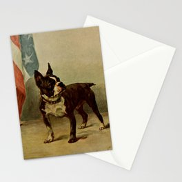 Earl,Maud (1864-1943) -The Power of the Dog 1910 (Boston Terrier) Stationery Cards