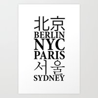 capital of world Art Print