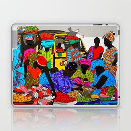 african market 1 Laptop & iPad Skin