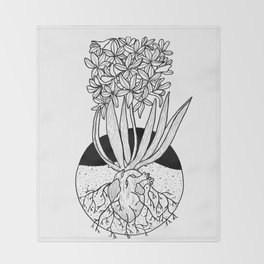 Grow Roots Throw Blanket