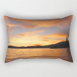 Orange sunset off the Lake Rectangular Pillow