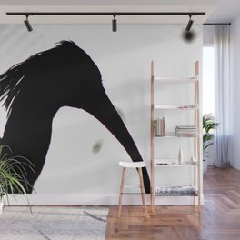 Silhouette of a Crested Ibis Wall Mural