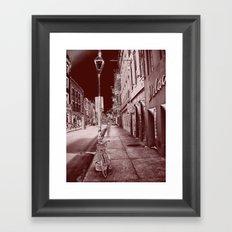 Red and Black New Orleans Framed Art Print