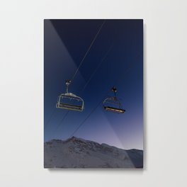 Dreamy Chairlifts and Stars Metal Print