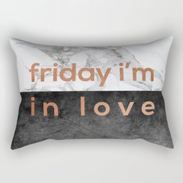 Friday I'm in Love Copper Rectangular Pillow