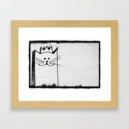 King of the Kats Framed Art Print