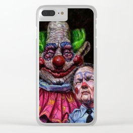 Jumbo the Killer Klown with officer Mooney Clear iPhone Case