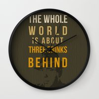 actor Wall Clocks featuring movie actor quote by Larsson Stevensem