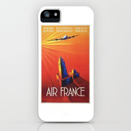 Old 1940 Air France poster iPhone Case
