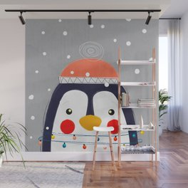 Christmas Penguin Wall Mural