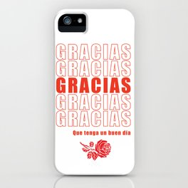 Gracias/Thank You iPhone Case