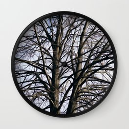 Stained Glass Tree Wall Clock