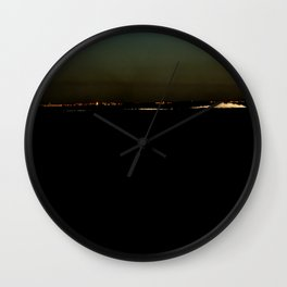 The river after sunset Wall Clock