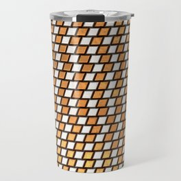 Irregular Chequers - Steel and Copper - Industrial Chess Board Pattern Travel Mug