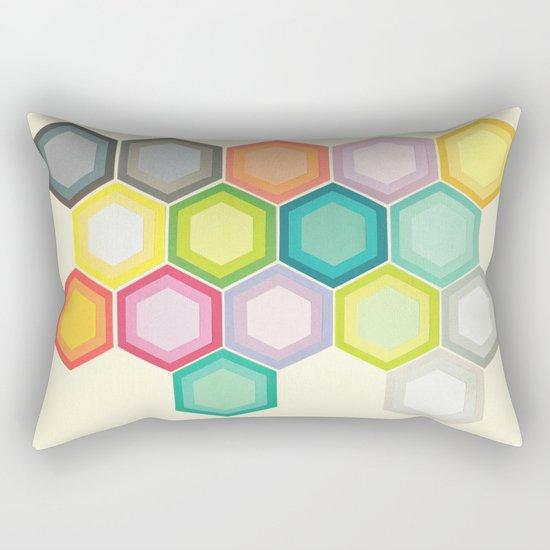 Honeycomb Layers Rectangular Pillow