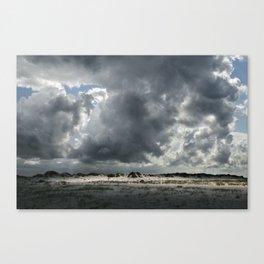 Beach, overcast Canvas Print