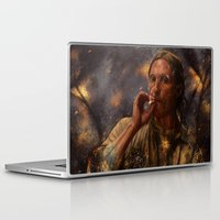 true detective Laptop & iPad Skins featuring True Detective - Rust Cohle 2014 by p1xer