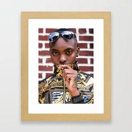 Covered Mouth Framed Art Print