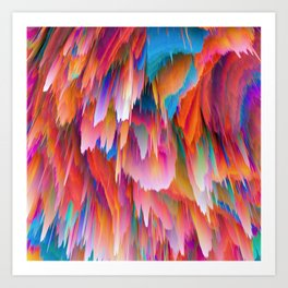 Pieces of Scorched Earth Raining Down Art Print