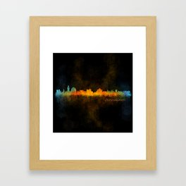 Jerusalem City Skyline Hq v4 Framed Art Print