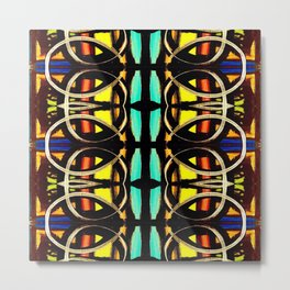 Mosaic Stained Glass Pattern Metal Print