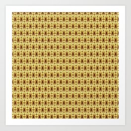 Geometric Abstract Pattern (Gold/Brown) Art Print